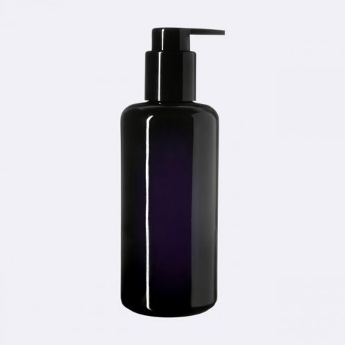 Dark-Violet-UV-Glass-Bottle-Pump-Cap-6-5oz-Vegan-Skin-Care-Garden-Las-Vegas